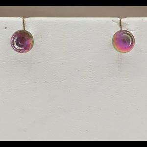 Avon Faceted Iridescence Earrings